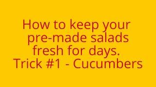 How to Keep Salad Fresh for Days - Trick #1