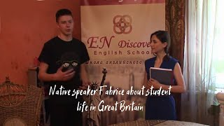 Native speaker Fabrice about student life in Great Britain
