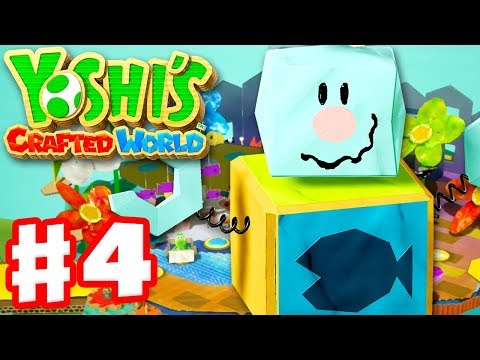 yoshi39s-crafted-world--gameplay-walkthrough-part-4--yarrctopus-docks-100-complete