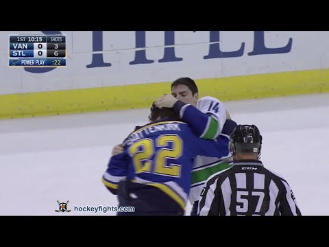 Alexandre Burrows vs Kevin Shattenkirk