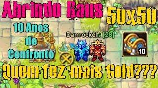 Warspear Online - Abrindo Baus 50x50 (DamRock vs Josias) Quem fez mais Gold???