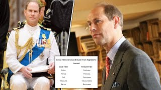 Why is Prince Edward an Earl, not a Duke?