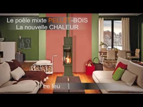 Poêle Pellet-Bois Max Blank FRANKFURT vue latérale