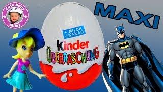 Überraschungseier Maxi und normal - Batman Polly Pocket - Surprise Eggs Kinderkanal
