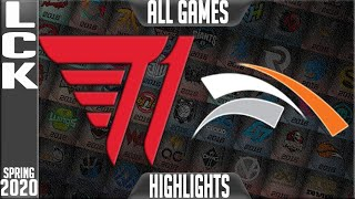 T1 vs HLE Highlights ALL GAMES | LCK Spring 2020 W6D5 | T1 vs Hanwha Life Esports