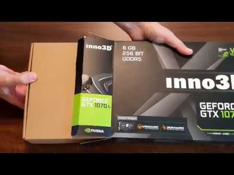 Inno3D GeForce GTX 1070 Ti graphics card UNBOXING - X2 V2 8GB GDDR5 256bit PCIe