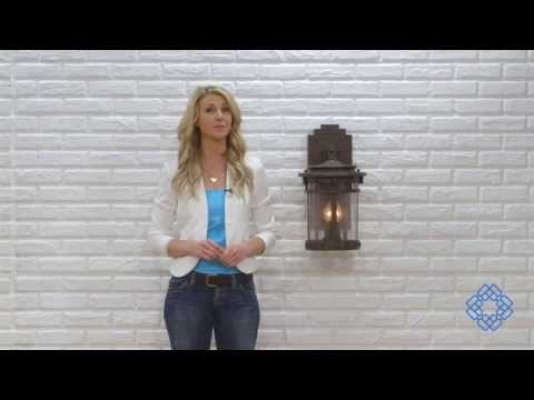 Video for Santa Barbara Sienna Three-Light Outdoor Wall Mount with Seedy Glass