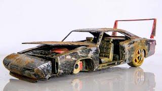 Restoration Abandoned 1969 Dodge Charger Daytona - Model Car