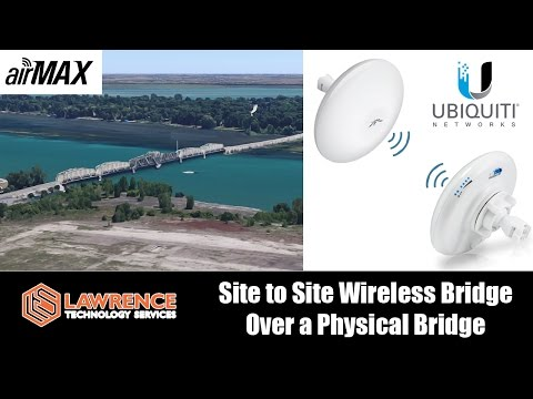 Site to Site Wireless Bridge over a Physical Bridge using Ubiquiti NBE-M5-16