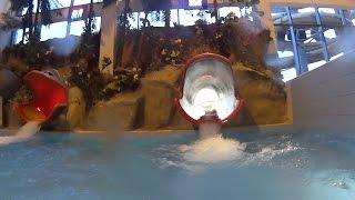 Struggling Water Slide At Park Wodny