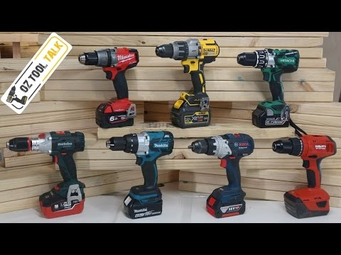 Brushless 18V Hammer Drill Fight – Milwaukee, Makita, Dewalt, Bosch, Hilti, Hitachi & Metabo