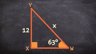 Using The Sine Function To Find The Missing Length Of The Hypotenuse