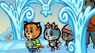 Развивающие и обучающие мультфильмы для детей и малышей  - Три котенка: Красивым может быть и снег