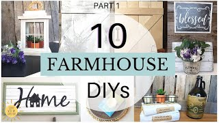 DIY FARMHOUSE DECOR | 10 EASY + BUDGET FRIENDLY DOLLAR TREE FARMHOUSE HOME DECOR CRAFT IDEAS 2020