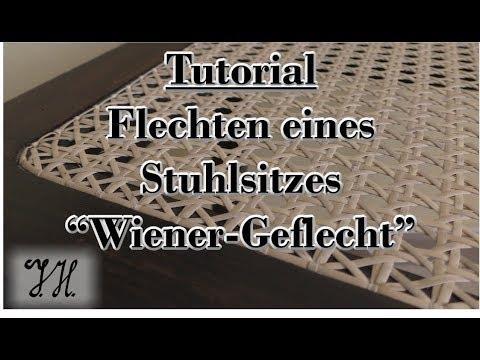 """Tutorial Stuhlsitz flechten """"Wiener Geflecht"""""""