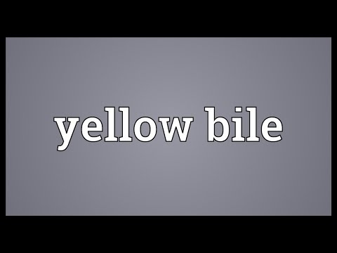 Yellow Bile Meaning