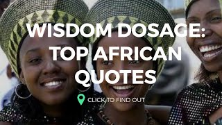 Top African Proverb and Sayings
