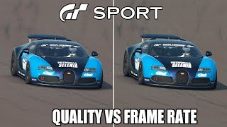 Gran Turismo Sport - Quality vs Frame Rate Mode Replay Comparison @ 4K (60ᶠᵖˢ) ✔