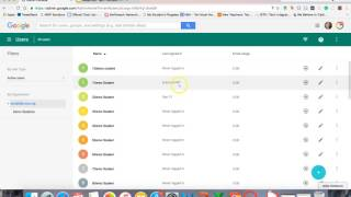 Google Admin Console:  Users Overview