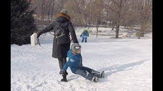 Будьте аккуратны на снежных горках! ))