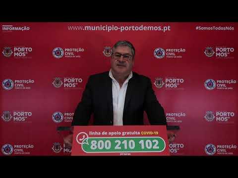 Comunicado Presidente da Câmara Municipal de Porto de Mós - COVID-19 - 20-03-2020