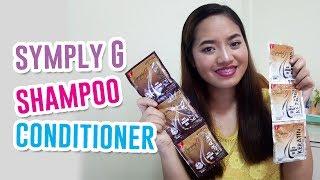 Symply G Keratin Shampoo and Conditioner First Impression Review JoyOfmia