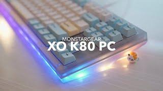 Monstargear XO K80 PC Build | Durock L4 & Pegaso Keycap Set Typing Sounds