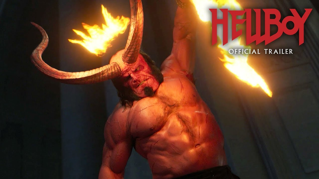 "Video trailer för Hellboy (2019 Movie) New Trailer ""Red Band"" – David Harbour, Milla Jovovich, Ian McShane"