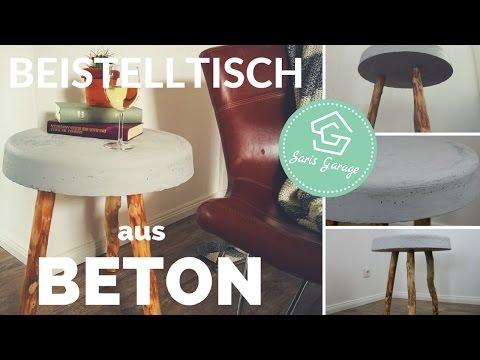 Betontisch selber bauen - Beistelltisch DIY | Tisch aus Beton | Beton Deko | Betonmöbel