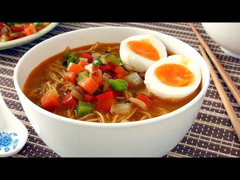 Receta de Ramen Casero 🍜 Sopa Oriental con Verduras ✅