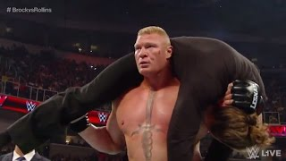 WWE Brock Lesnar Goes on a Rampage. cameraman attack  30/5/2016