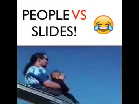 Try to without smiling... *people vs slides 😂😂