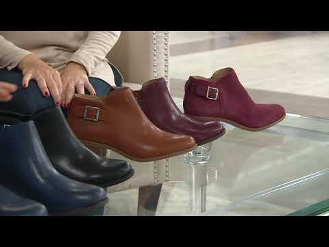 Vionic Ankle Boots with Buckle - Millie on QVC