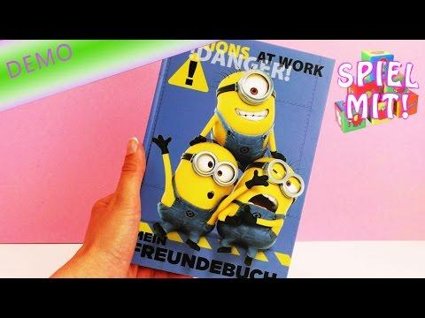 Minions Spielzeug - Minions Freundebuch - Minions at work - ich einfach unverbesserlich