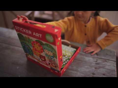 Youtube Video for Animal Friends Sticker Art - 3D Fun
