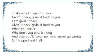 Christine McVie - Givin' It Back Lyrics