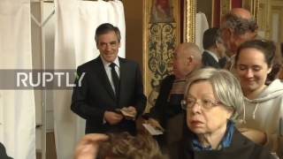 France: Fillon casts vote in first round of presidential elections in Paris