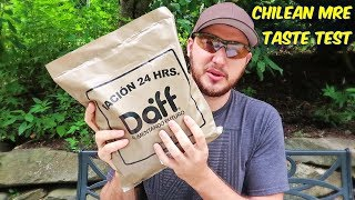 Tasting Chilean MRE (Meal Ready to Eat)