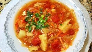 ЖИРОСЖИГАЮЩИЙ СУП  - 1 кг  в день. Суп для Похудения. Постный суп.  Fat-burning Soup - 1 kg per day.