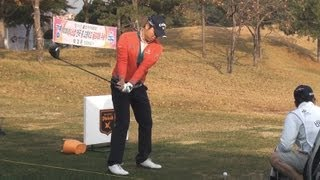 [1080P SLOW] BAE Sang-Moon Driver with Practice Golf Swing_Driving Range 2012 (7)
