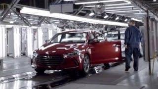 2017 Hyundai Elantra production at the Alabama plant, USA