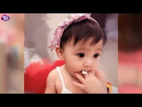 賈靜雯曬女兒健身洗澡照呆萌可愛眼睛美- YouTube
