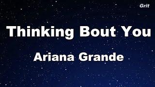 Thinking Bout You   Ariana Grande Karaoke 【No Guide Melody】 Instrumental