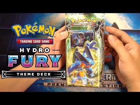 Mở hộp bài Pokemon Hyro Fury Theme Deck Celestial Storm   Sun and Moon   M2DA