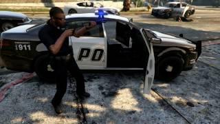 GTA 5 NPC Gangs Vs. Cops