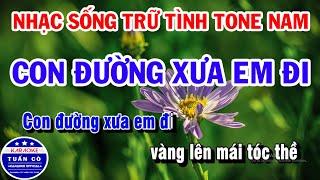 karaoke-nhac-song-tru-tinh-tone-nam-lien-khuc-con-duong-xua-em-di-nguoi-di-ngoai-pho