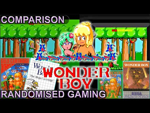 Wonder Boy - Master System & Game Gear versions side by side comparison