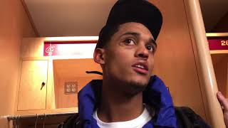 Jordan Clarkson explains why he threw the ball at Dario Saric after a dunk