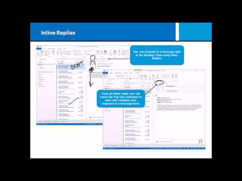 Microsoft Office Outlook 2013 Training - Performing Basic Email ...
