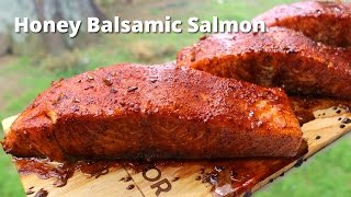 Grilled Salmon   Honey Balsamic Grilled Salmon On Cedar Planks Grilled On Big Green Egg